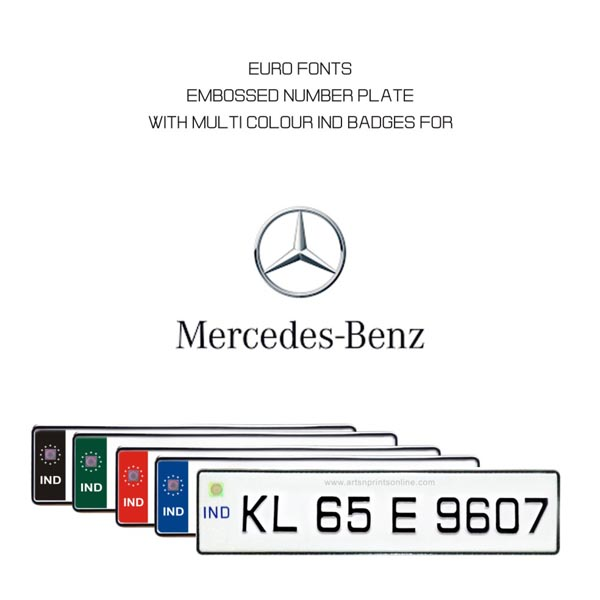 Mercedes-Benz - EURO-Number plates
