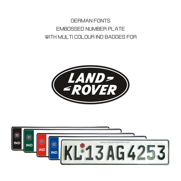 Land Rover Number Plate Online