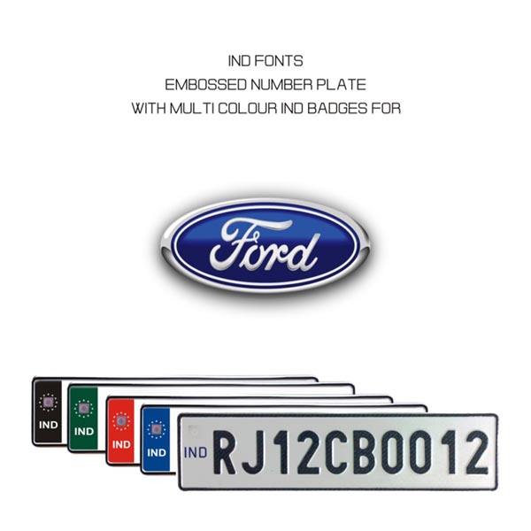Ford Number Plate
