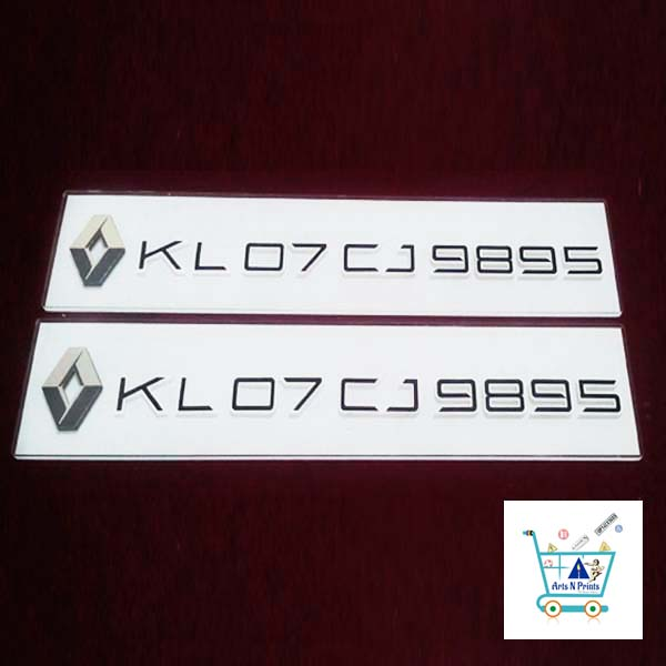 kwid-car-number-plate-online-design