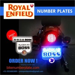 Royal Enfield LED Number Plate